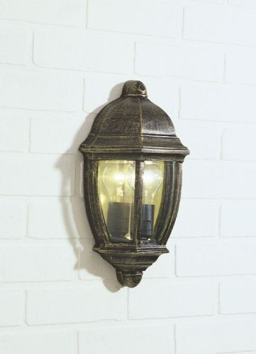 Newport 1-light Black/Gold Double Insulated Outdoor Wall Light  (Double Insulated) BXNEW2135-17